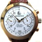 Poljot Chronograph Aviatika Gild Polished
