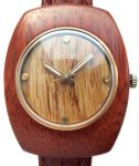 Raketa USSR Wooden Watch Pre-owned